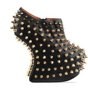 NEW Jeffrey Campbell Shadow Stud Heeless Shoes